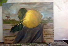 """Wandering between lemon trees"" 8 x 10 inches"